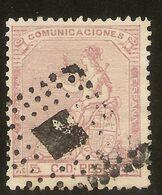 ESPAÑA Edifil 132 (º)  5 Céntimos Rosa  Corona/Alegoría España  1873  NL1342 - 1868-70 Provisional Government