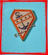 Pin's A.S.A.L , Association Sportive De L'ARSENAL De LORIENT, DCN, Marine Nationale - Armee