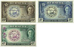 Ref. 81293 * NEW *  - BERMUDAS . 1949. CENTENARY OF THE FIRST STAMP OF THE COLONY. CENTENARIO DEL PRIMER SELLO DE LA COL - Bermudas