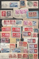 Switzerland Old Stamps On Letter Cutouts - Some Slogan Postmarks Selection B181025 - Oblitérés