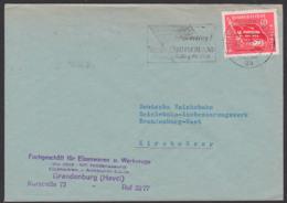 """Propaganda """"Vorwärts Zum Parteitag NEUES DEUTSCHLAND"""" Mit Passender SoMke, Brandenburg (Havel) - Briefe U. Dokumente"""
