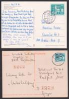 Berlin Alexanderplatz, Ales, 25 Pf Sozialistischer Aufbau Gr. Und Kl. Format Je Auf Auslandskarte, Cottbus, Chosebuz - DDR