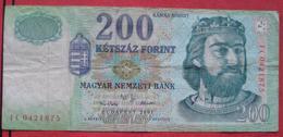 200 / Ketszaz Forint 2001 (WPM 187a) - Hungary