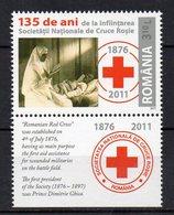 ROUMANIE - ROMANIA - CROIX-ROUGE - RED CROSS - 135éme ANNIVERSAIRE - 135th ANNIVERSARY - 2011 - Bords De Feuillets - - 1948-.... Republics