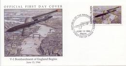MARSHAL ISLAND BOMBARDMENT OF ENGLAND BEGINS  COVER  (NOV180060) - Marshall Islands