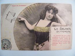 Bergeret 115- Signe Du ZODIAQUE: La BALANCE Voy 1906 - Fantaisies
