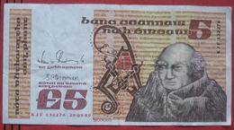 5 / Five Punt / Pound 1989 (WPM 71e) - Ireland
