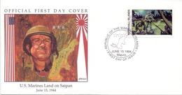 MARSHAL ISLAND U.S. MARINES LAND ON SAIPAN  COVER  (NOV180061) - Marshallinseln