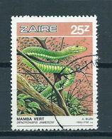 1987 Zaire Reptiles 25z Used/gebruikt/oblitere - Zaïre