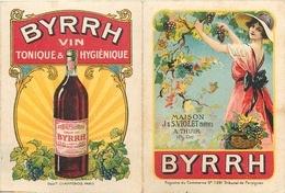 """BEAU CALENDRIER - BYRRH - PUBLICITE - 1926 - ILLUSTRATEUR - MAISON """" VIOLET"""" à THUIR (66) - TRES BEL ETAT- - Calendriers"""