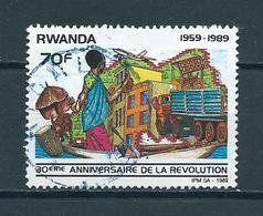 1990 Rwanda 30 Years Revolution Used/gebruikt/oblitere - 1990-99: Afgestempeld