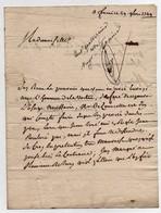 Lettre 18ème Adressée à Mademoiselle Vandebergue De Villebouré Orléans De M. De Courcelle Et Caillard Litige 1749 (3 Let - Manuscripts