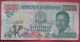 1000 / Elfu Moja Shilingi ND (WPM 27c) - Tanzanie