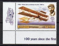 ROUMANIE - ROMANIA - 2008 - 100éme ANNIVERSAIRE DU VOL DE HENRI FARMAN - AVIATION - AVIONS - PLANES - - 1948-.... Republics