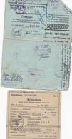 Lot De Papiers    Travail En Allemagne  1943  Tampon Croix Gamè     Plus 6 Autres - Autres