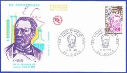 LOUIS PASTEUR - 150º Anniversaire De La Naissance De Louis Pasteur, France 1973 / Fdc - Louis Pasteur