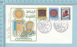FDC PTT PPJ -Artisanat 1968, Ilustrated Envelope, Enveloppe Illustrée - - Algérie (1962-...)