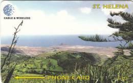 ST. HELENA ISL.(GPT) - View Of Prosperus Bay Plain, CN : 325CSHB, Tirage 1200, Used - St. Helena Island