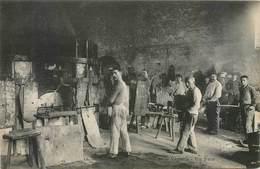CPA Rougemont 41 Verrerie Intérieur - Four - Saint Jean Froidmentel Ouvriers Verrier Non Circulé - Mestieri