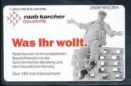 GERMANY Telefonkarte O 1660 95 Eaab Karcher  - Auflage 4000 - Siehe Scan - 15474 - Deutschland