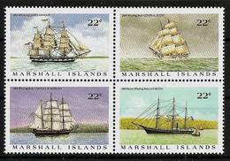 MARSHALL ISLANDS 1987 - Whaling Ships WALFANGSCHIFFE - 4-bloc Mi 109-112 MNH ** Cv€4,80 V325f - Marshall Islands
