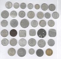 Lot De 37 Monnaies De Nécessité / Coins Of Necessity - France 1916-1924 - Autres
