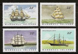 MARSHALL ISLANDS 1987 - Whaling Ships WALFANGSCHIFFE - 4v Mi 109-112 MNH ** Cv€4,00 V325g - Marshall Islands