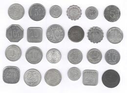 Lot De 24 Monnaies De Nécessité / Coins Of Necessity - France 1916-1924 - France