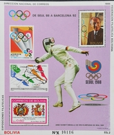 Bolivia  1992 Barcelona Summer Olympic Games S/S - Bolivie