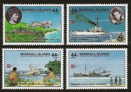 MARSHALL ISLANDS 1987 - 50th Anniv EARHART's Flight Around The World - 4v Mi 120-123 /ALL AIRMAIL/ MNH ** Cv€4,80 V328a - Marshall Islands