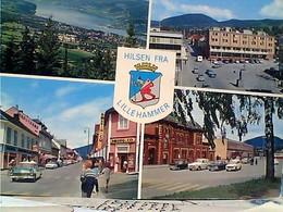NORGE Norvège, Lillehammer, Multi-Vues AUTO  CAR STAMP TIMBRE  SELO 1,00 ARKITEKTURVERNARET 1975  GX5652 - Norvegia