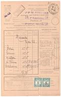 RECOUVREMENT MARSEILLE Bordereau Valeur Recouvrée 1485 1F X 2 Vert Taxe à Percevoir Yv Taxe 60 PREOBILTERE T - Segnatasse