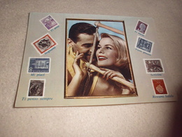 TENDRE COUPLE ...ET TIMBRES - Stamps (pictures)