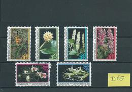 1995 Burundi 6x Flowers,blümen,fleurs Used/gebruikt/oblitere(D-65) - Burundi
