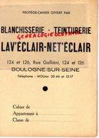 92- BOULOGNE SUR SEINE- PROTEGE CAHIER BLANCHISSERIE TEINTURERIE G. WARTNER- 124 RUE GALLIENI-TEINTURE - Produits Ménagers