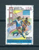 1993 Burundi Football,soccer,voetbal Used/gebruikt/oblitere - Burundi
