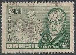 LSJP BRASIL MONTEIRO LOBATO WRITER 1955 - Brazil