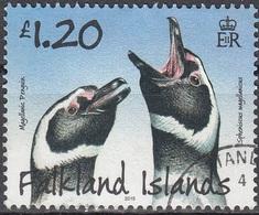 Falkland Islands 2015 Manchot O Cachet Rond - Falkland