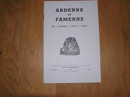 ARDENNE ET FAMENNE N° 2 Année 1966 Régionalisme Poète Vermer La Roche Fief Houffalize Verlaine Limerlé Graide Orval - Culture