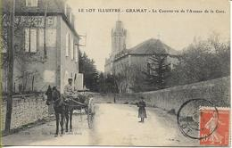 GRAMAT  Le Couvent Vu De L'Avenue De La Gare  (bel Attelage) - Gramat