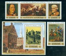 Ajman 1028-1031, Bl 303 Worlds Fair 1976, Mint NH, Minkus 1246-1250 - Ajman