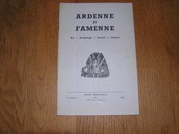 ARDENNE ET FAMENNE N° 3 Année 1966 Régionalisme Commune Freux La Roche En Ardenne Graide N J Laforêt Ollomont Sensenruth - Culture
