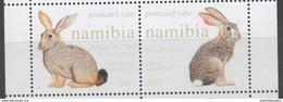 NAMIBIA, 2017, MNH, FAUNA, RABBITS, HARES, 2v - Lapins