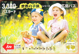 JAPAN - Children, Bus Ticketcard Y3300, Used - Autres Collections