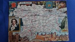 CPSM GEOGRAPHIQUE DEPARTEMENT DE L AUDE  11 BLONDEL ROUGERY PINCHON - Maps