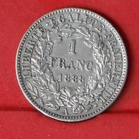 PORTUGAL 1 FRANCS 1888 A - 200 REIS - 5 GRS - 0,835 SILVER   KM# 822,1 - (Nº26411) - Portugal