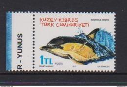 TURKISH CYPRUS, 2016,  MNH, MARINE MAMMALS, DOLPHINS, 1v - Dolphins