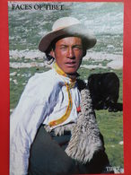 Tibet  Visage  Et  Costume Masculin Tibetain - Népal