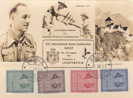 XIV International Scout Conférence VADUZ LIECHTENSTEIN  1953  2 Scans - Scouting