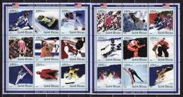 Guinea Bissau, 2001, Winter Olympics 2002, Ice Hockey, 2 Minisheets - Winter 2002: Salt Lake City